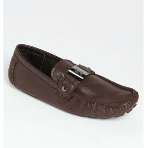 Bugatchi leather slip on shoe size 9.5